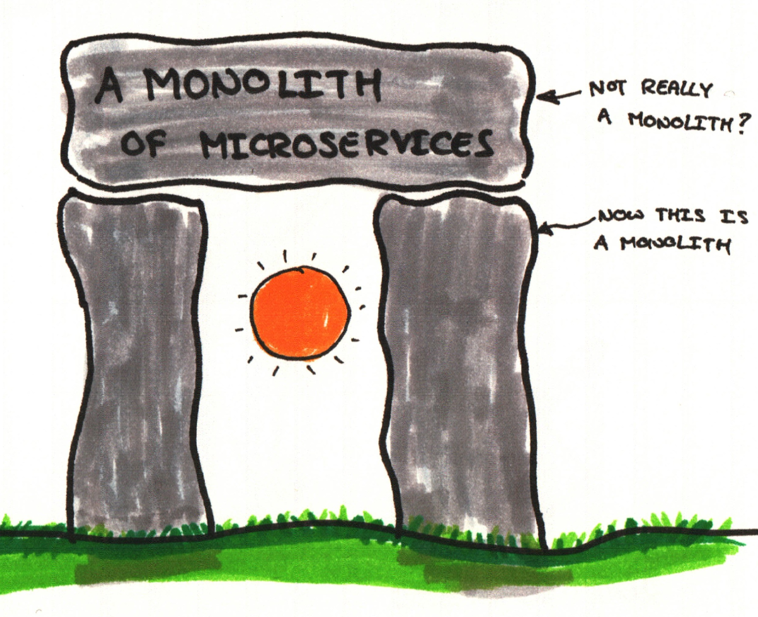 First slide from the talk, Stonehenge representing a monolith